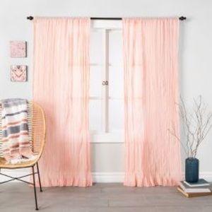 1 NWT Opalhouse Crushed Sheer Curtain Panel 108